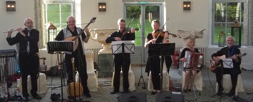 Angels of the North checking sound at a wedding